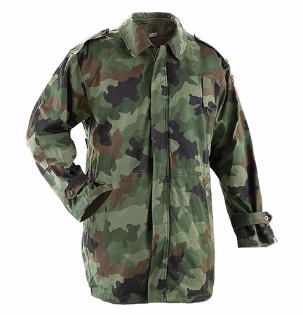 Serbian Army Camo Winter Parka With Liner