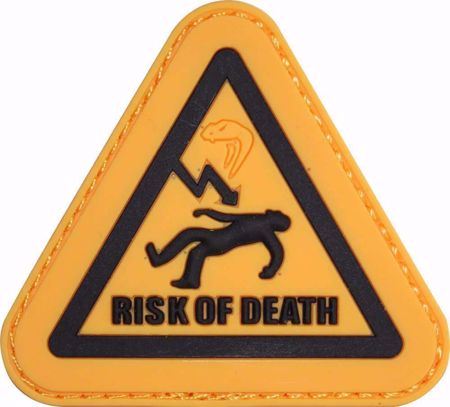 Morale Rubber Patch - Risk Of Death