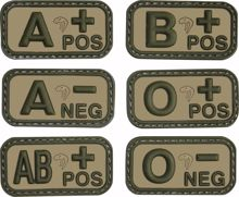 Viper Blood Group Rubber Patches VCAM