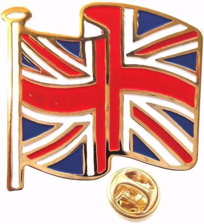 Union Jack Enamel Pin Badge