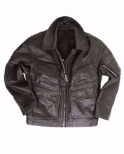 BGS Black Motorcycle Leather Jacket MOD.II