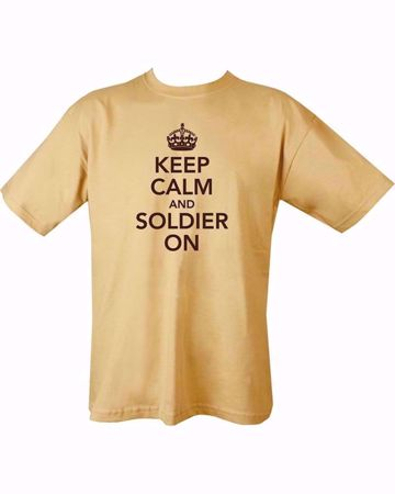 T-Shirt Keep Calm And Soldier On