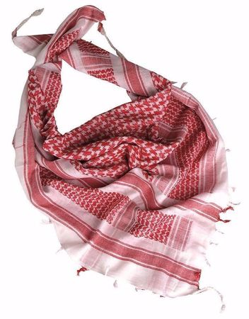 Tactical Shemagh Scarf White & Red