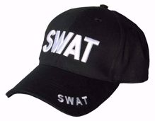 SWAT 3D Baseball Cap Black