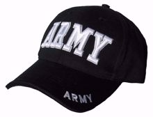 Army 3D Baseball Cap Black