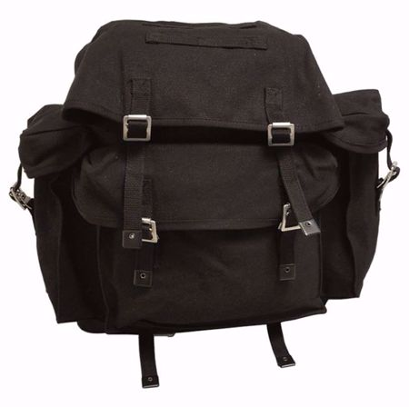 Genuine German Black Rucksack With Field Suspend