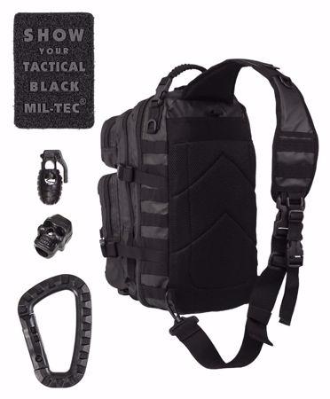 Mil-Tec Black One Strap Tactical Assault Pack Large