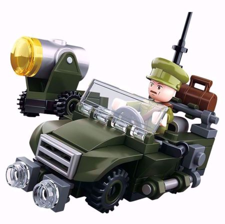 Building Blocks WWII Serie Allied Jeep - M38-B0678B