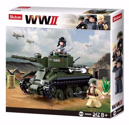 Sluban Allied Cavalry Tank M38-B0686 (WWII Cavalry Tank)