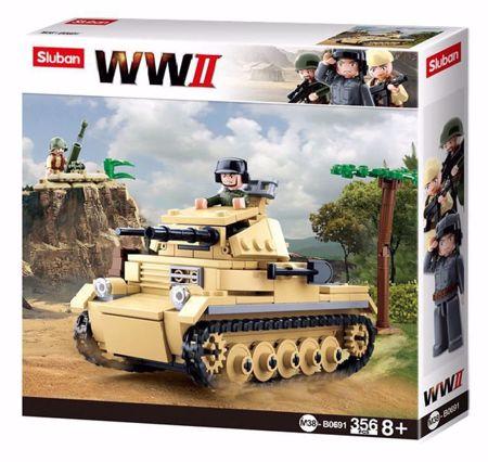 Sluban Small German Tank M38-B0691 (WWII Serie Panzer II)