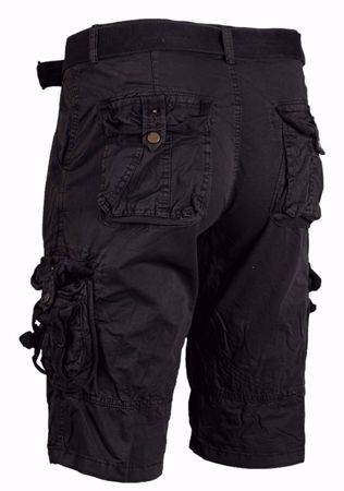 Mil-Tec Vintage Survival Shorts Prewash Black
